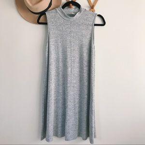 Acemi | Mock Neck sleeves Mini Dress